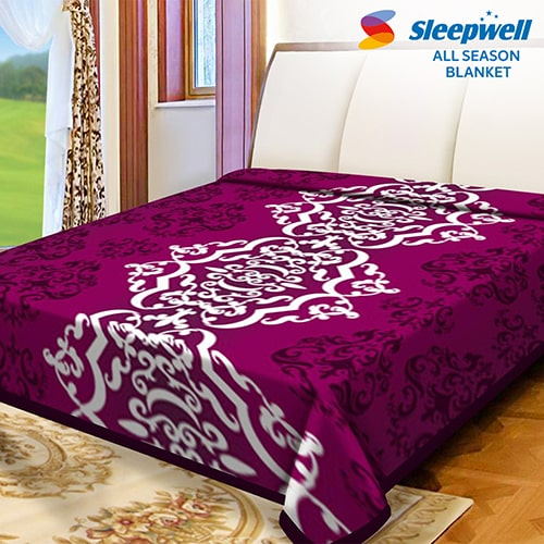 Sleepwell All Season Blanket Printed Double Accessories