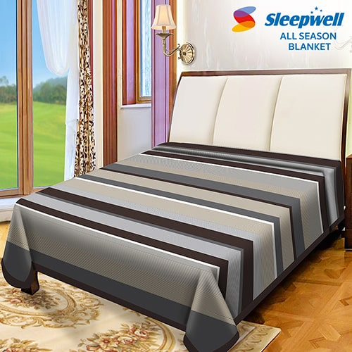 Sleepwell All Season Blanket Cationic Double Accessories